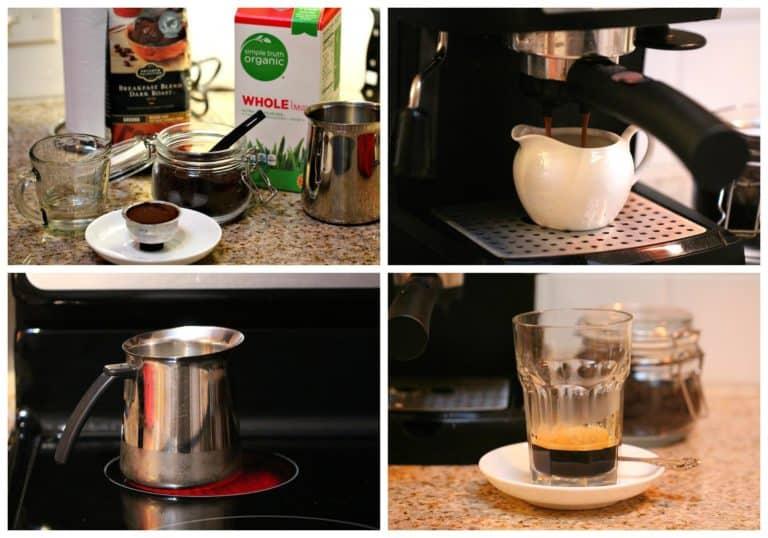 Instrucciones paso a paso para preparar café con leche