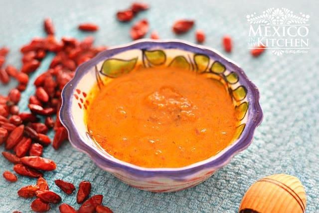 Salsa seca de chile piquin