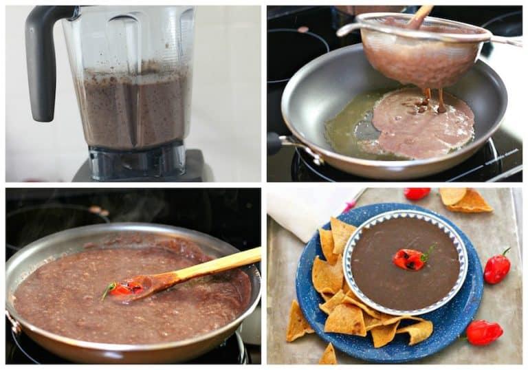 Instrucciones para preparar Frijol Colado Yucateco