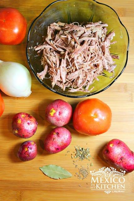 Ingredientes para preparar ropa vieja receta