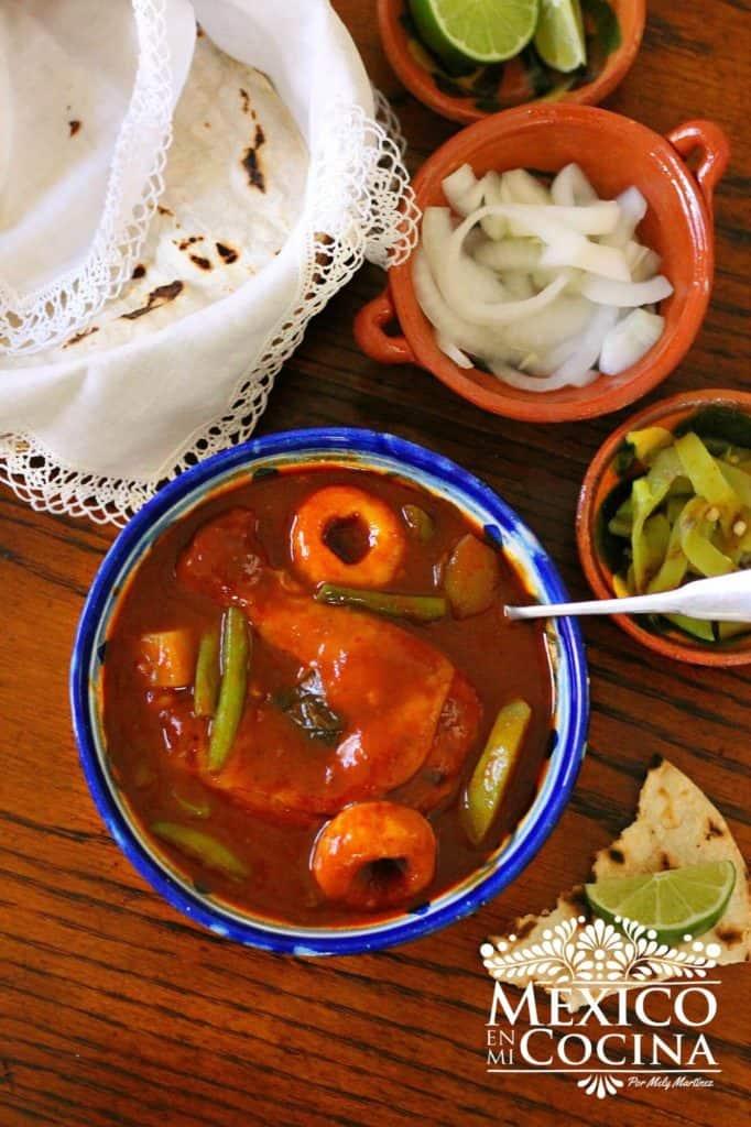 receta de mole amarillo, amarillito de Oaxaca