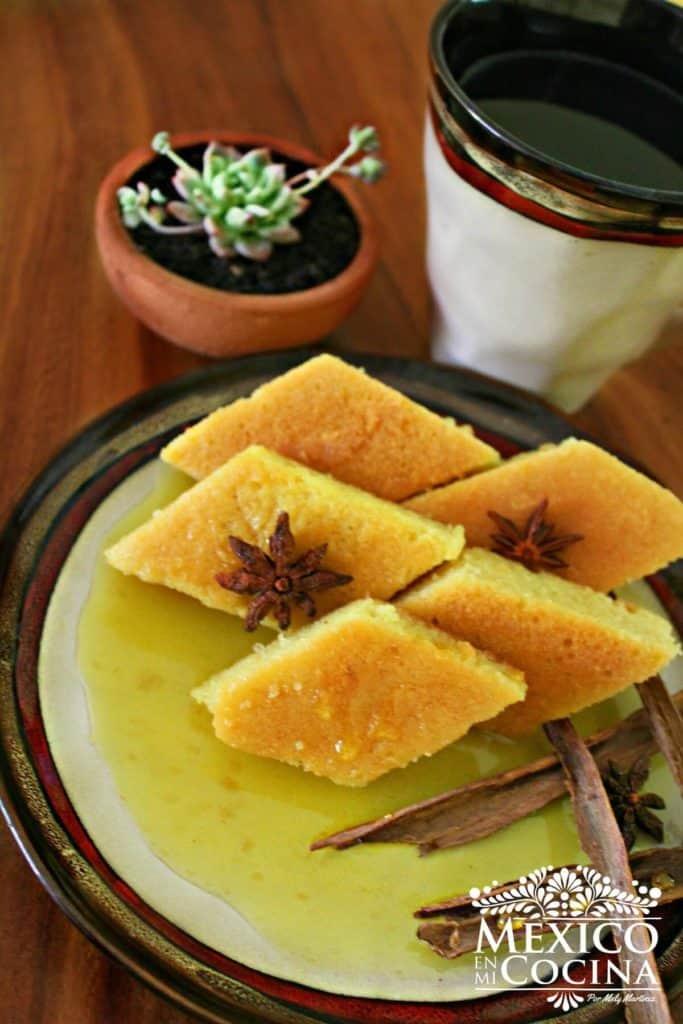 Chimbo pan dulce en forma de rombo receta