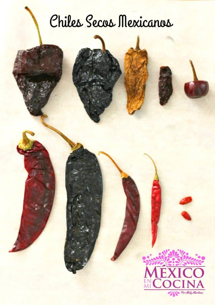 chiles secos mexicanos