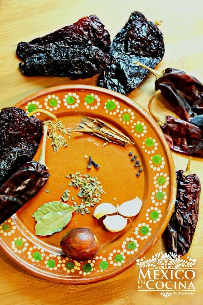 ingredientes de asado de puerco
