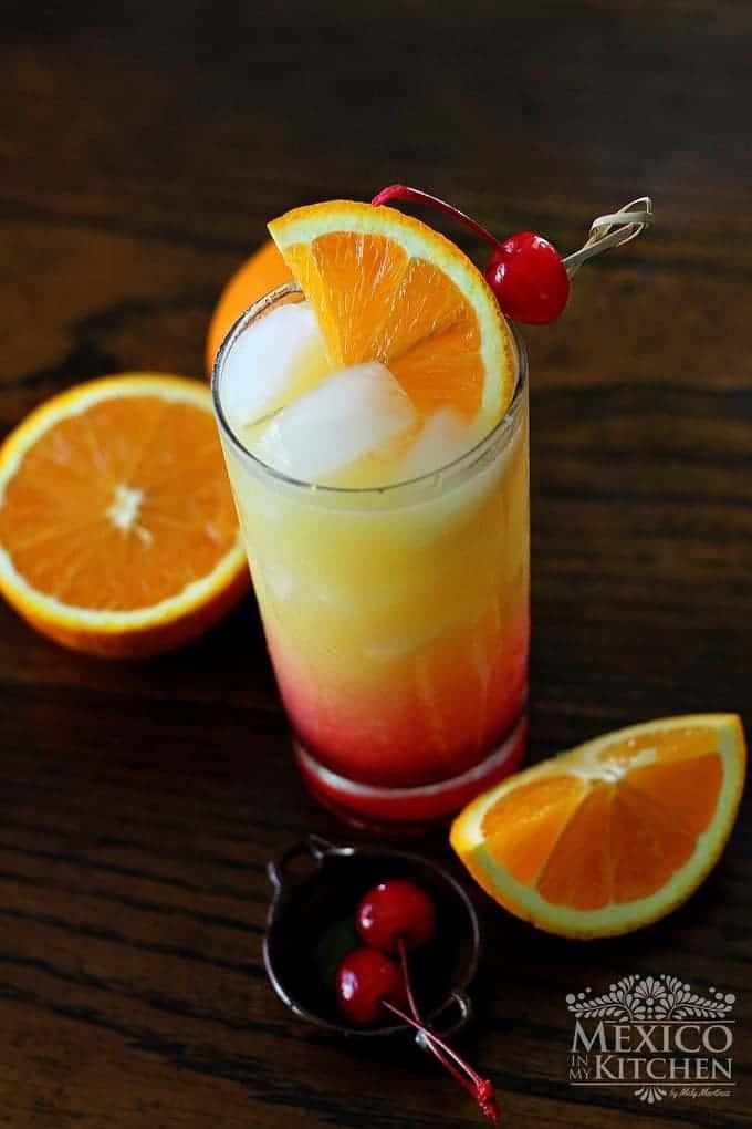 coctel tequila sunrise