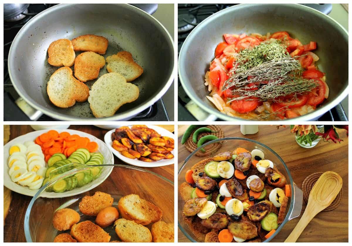 Como hacer sopa de pan Chiapaneca