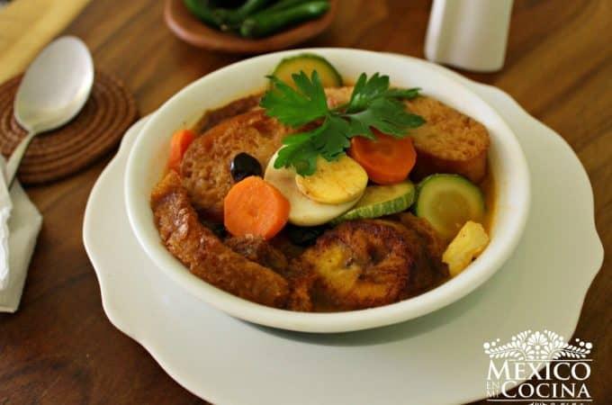 Receta de sopa de pan de San Cristobal de las Casas