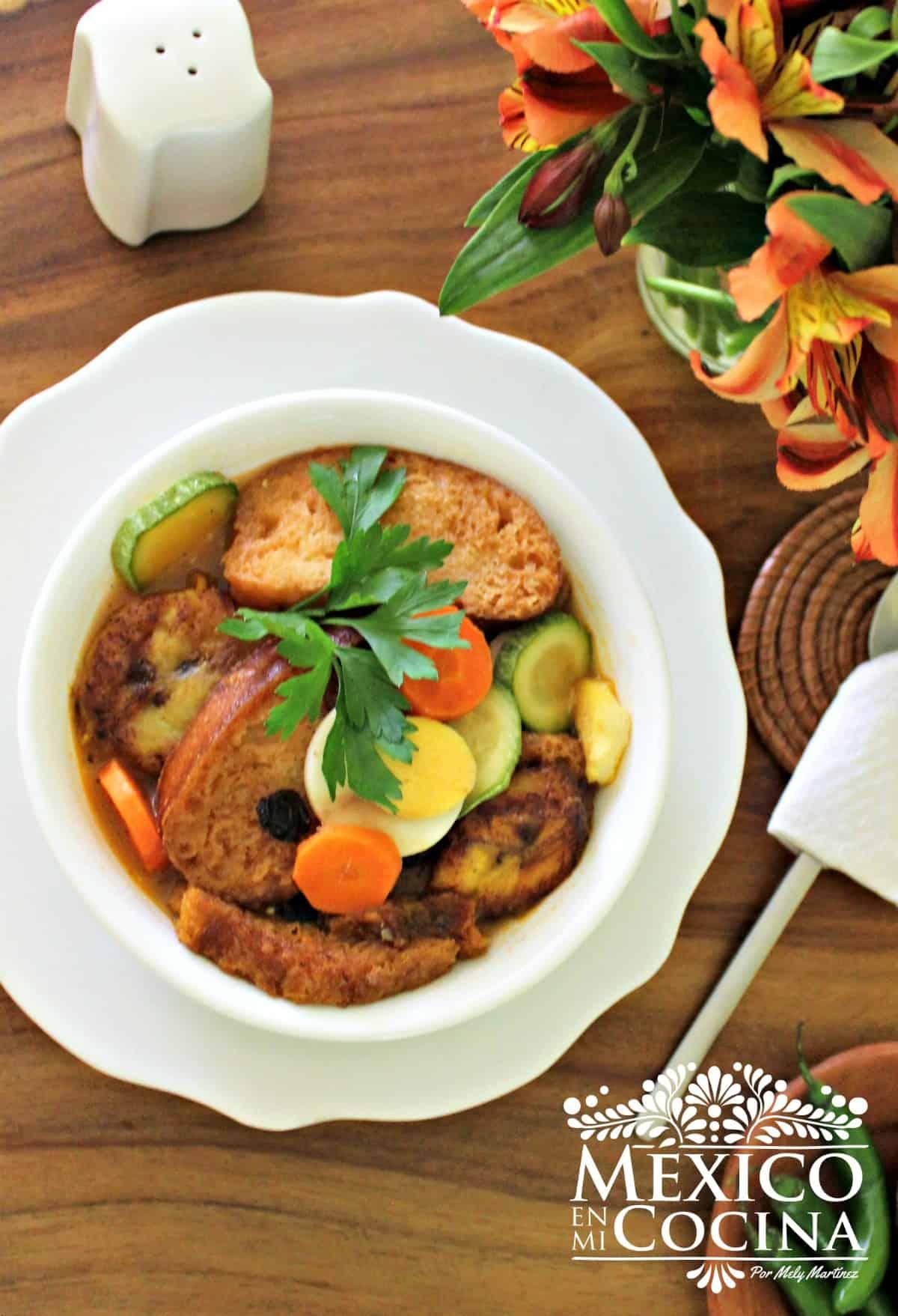 sopa de pan de Chiapas receta