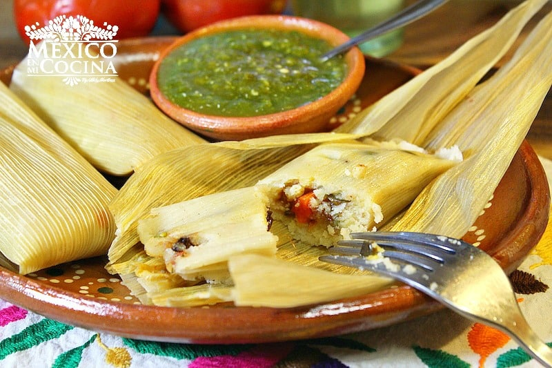 Tamales sin grasa de cerdo