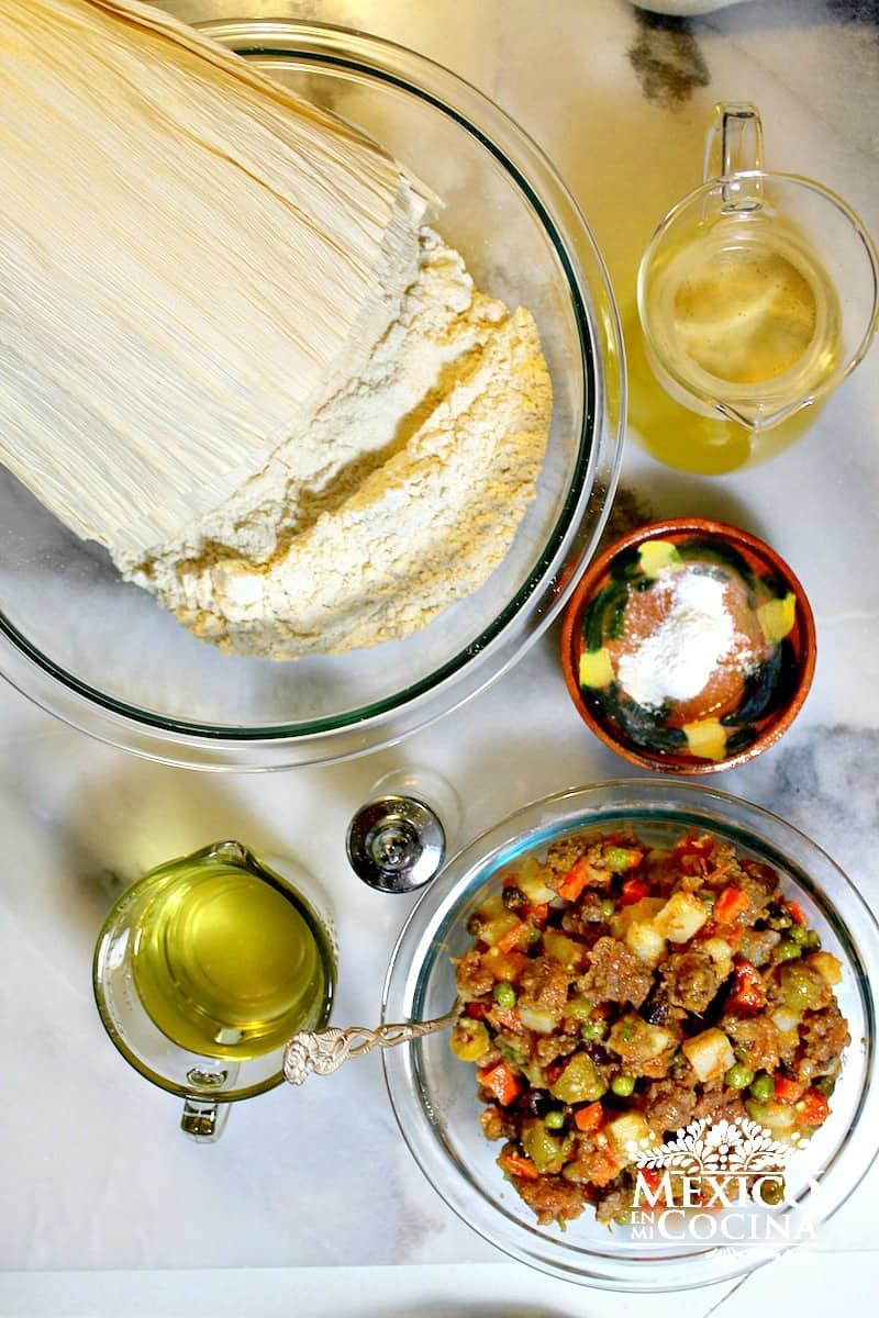 Tamales sin grasa de puerco