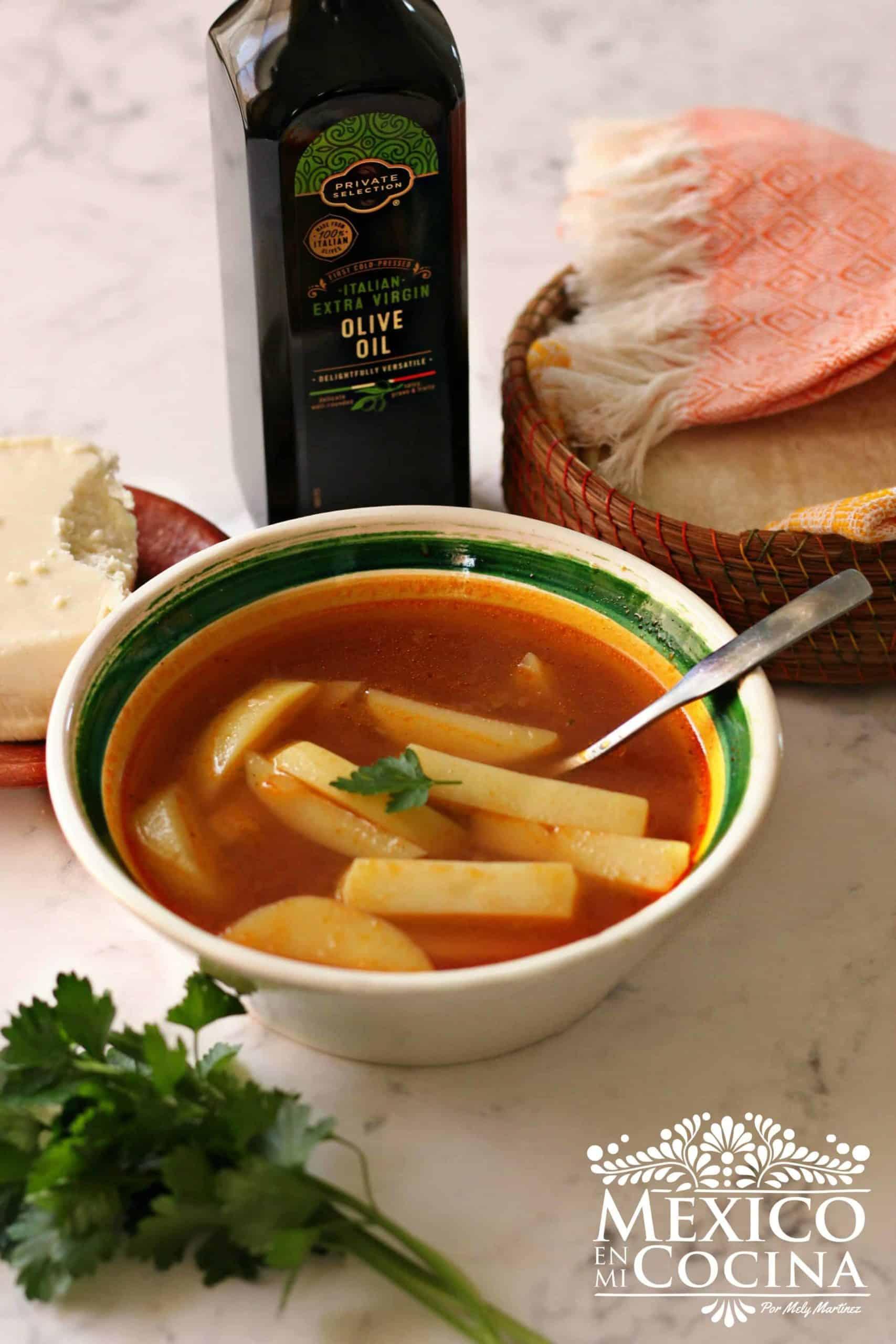 receta sopa de papa