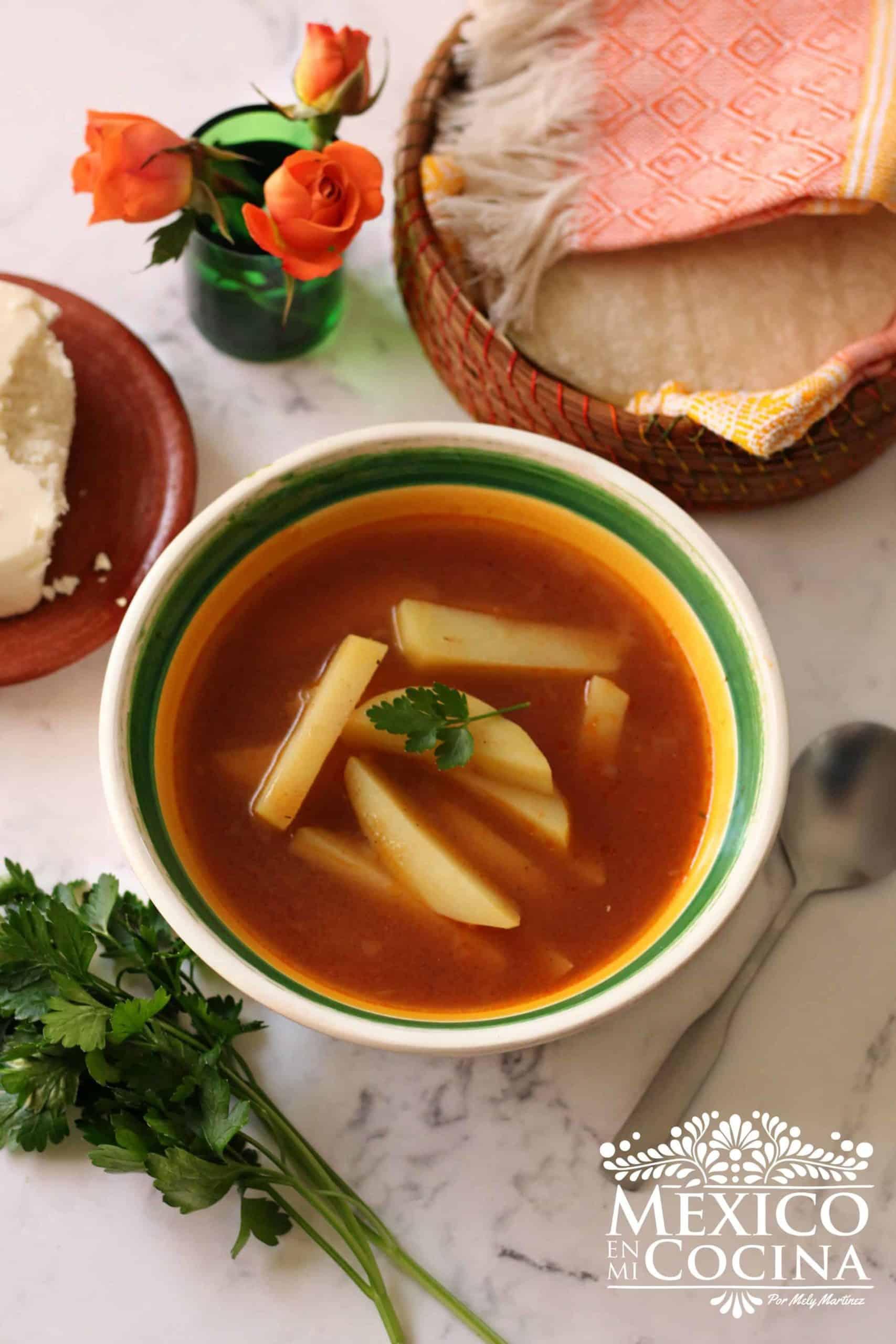 Receta de sopa de papa