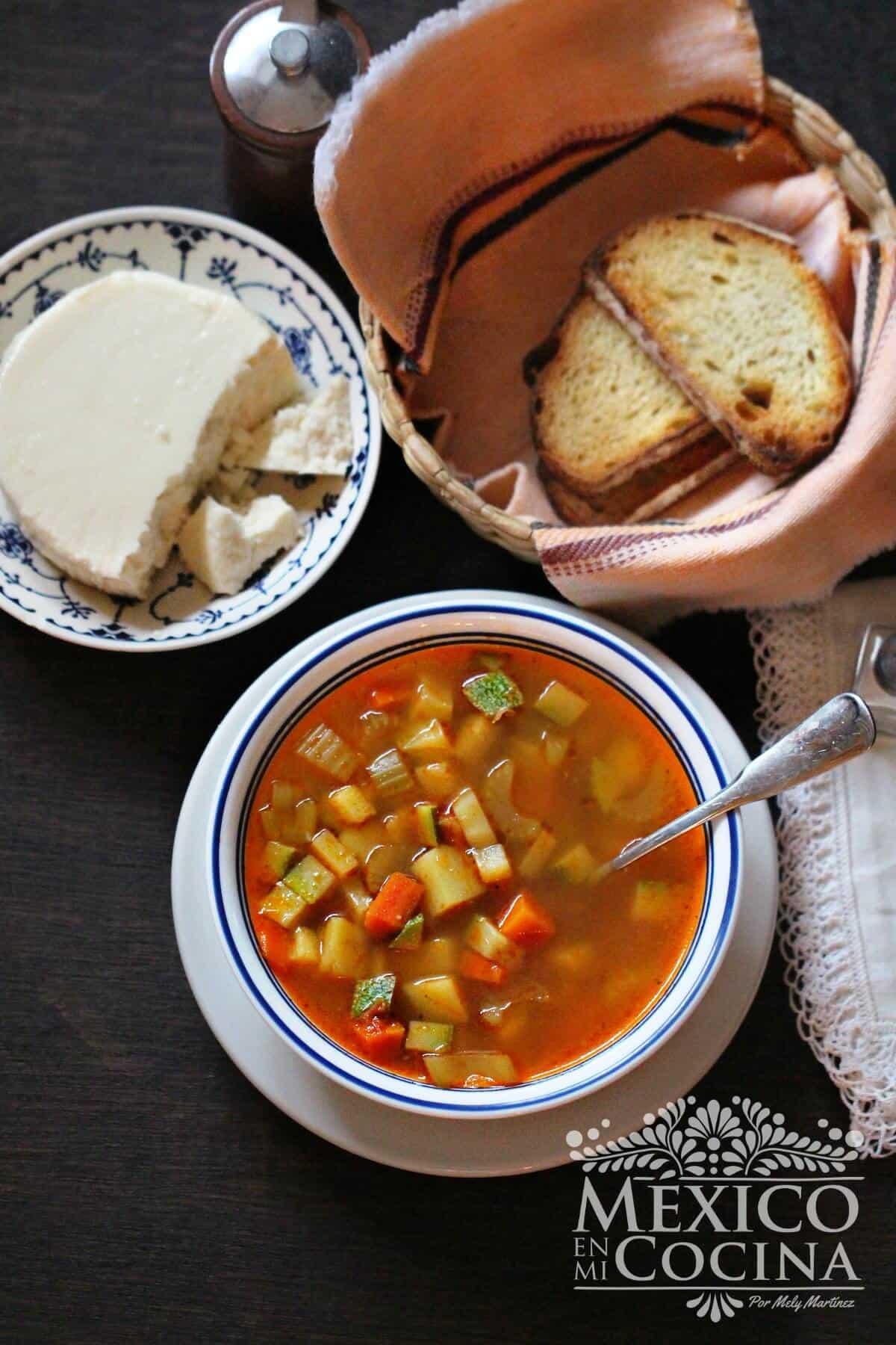 sopa de verdura fácil