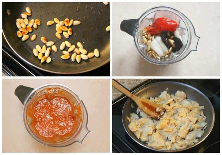 Asa los ingredientes y llévalos a los ingredientes