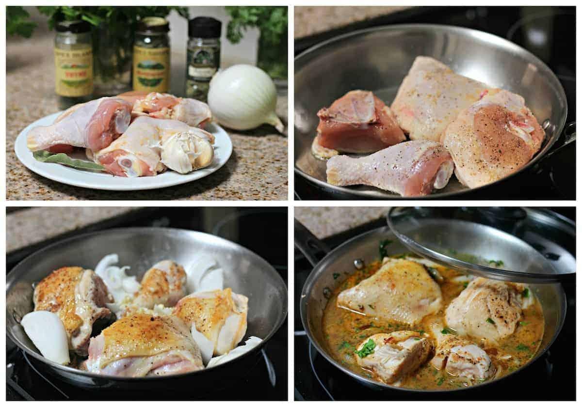 Instrucciones paso a paso para preparar pollo a las finas hierbas
