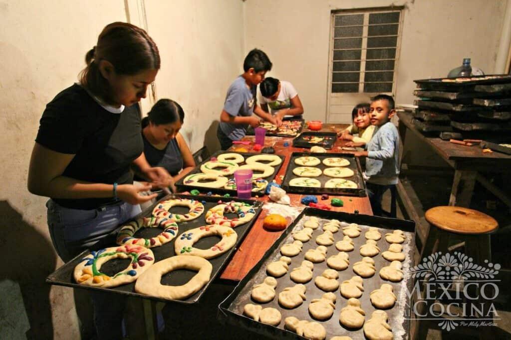 Familia de panaderos