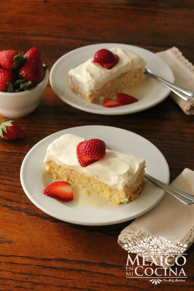Delicioso pastel tres leches