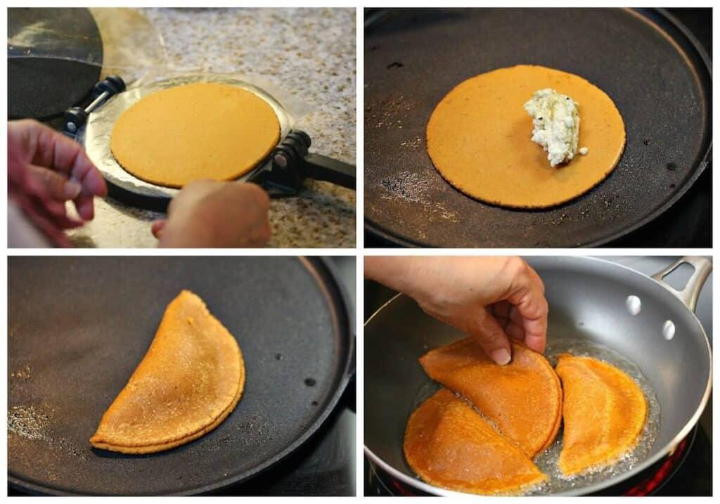 Haciendo las enchiladas potosinas