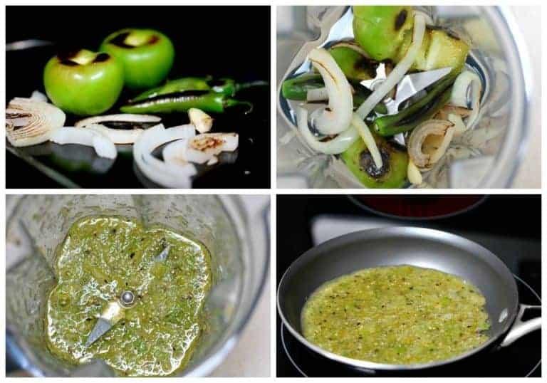 Preparando la salsa verde