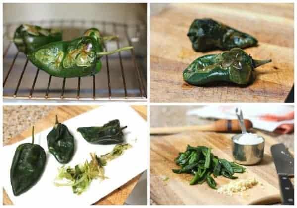 Instrucciones paso a paso para preparar sopa de papa y chile poblano